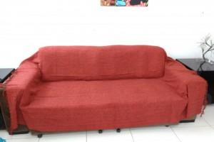 Detalhes do produto Manta queen mesclada vermelho com laranja 200x250 cm